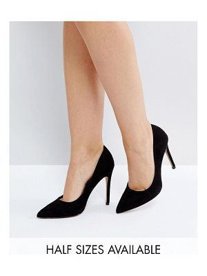 ASOS DESIGN paris pointed high heeled pumps in black