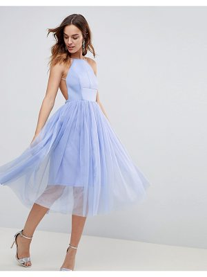 ASOS DESIGN asos premium scuba pinny midi tulle dress