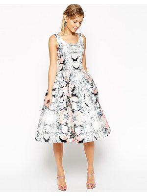 ASOS SALON Super Full Belted Floral Prom Dress