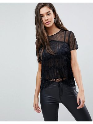 ASOS Sheer Fringe T-Shirt