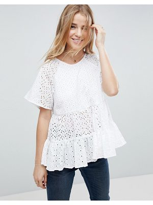 ASOS Smock Top in Broderie