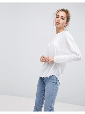 ASOS T-Shirt with Long Sleeve in Linen