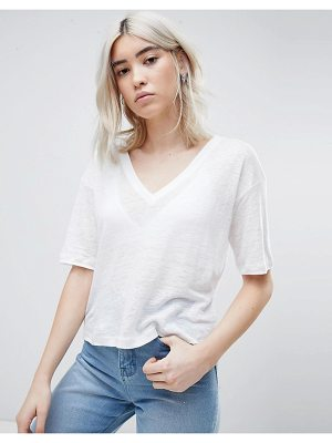 ASOS T-Shirt With V-Neck In Linen