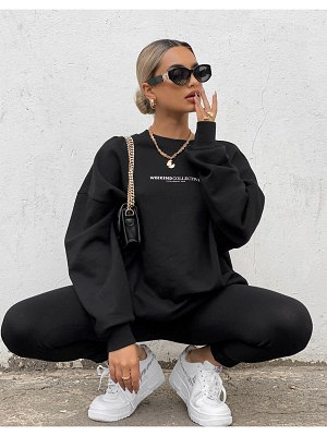 ASOS Weekend Collective sweatshirt with large back logo in black