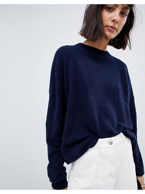ASOS White 100% cashmere sweater with crew neck