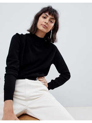 ASOS White 100% cashmere sweater with turtleneck