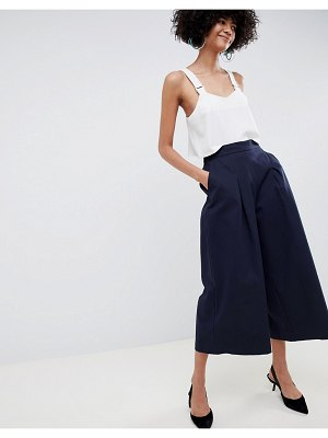 ASOS White basketball pants with pleat detail-navy