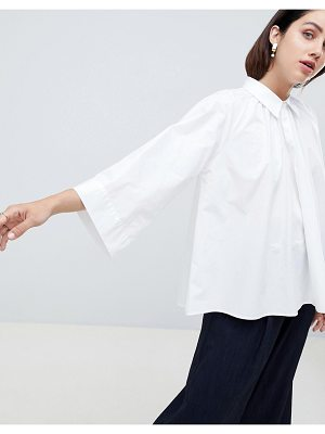 ASOS White ASOS WHITE blouse with gather neck detail
