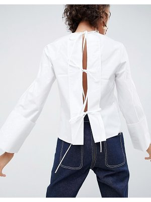 ASOS White ASOS WHITE open back top with tie detail