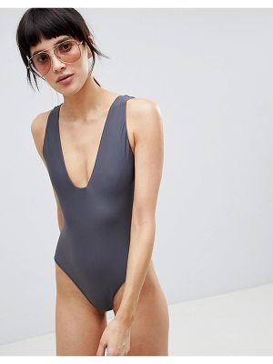 ASOS White ASOS WHITE Swimsuit with Square Neck