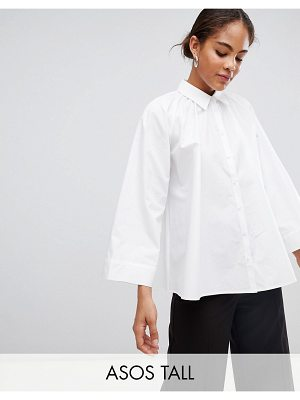 ASOS White ASOS WHITE Tall blouse with gather neck detail