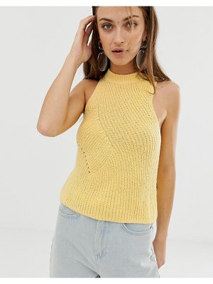 ASOS White boucle knitted tank top