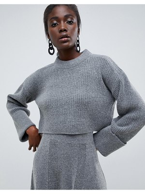 ASOS White cropped sweater two-piece