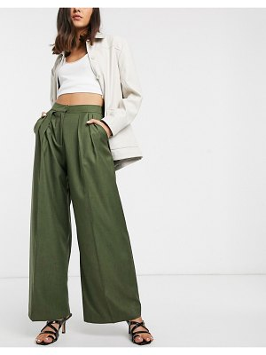 ASOS White pleat front pants-green