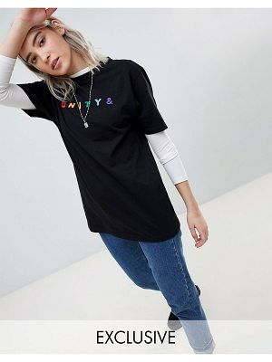 ASOS x glaad & Relaxed T-Shirt With Embroidery