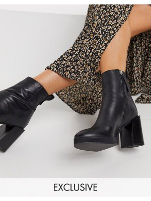 ASRA exclusive herington heeled boots in black leather