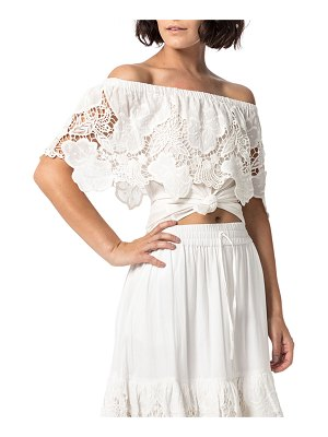 ASTARS Capitola Embroidered Lace Off-the-Shoulder Top