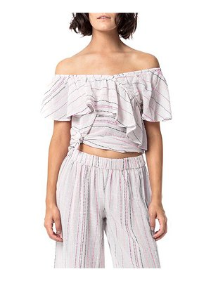 ASTARS Eden On & Off-the-Shoulder Embroidered Top