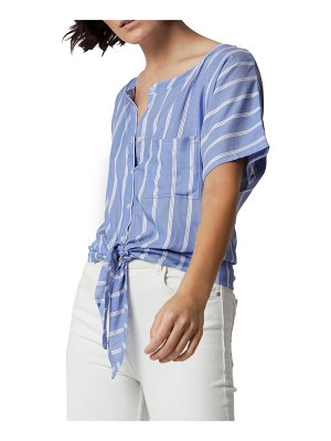 ASTARS Fleming Striped Tie-Waist Top