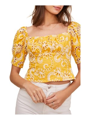 ASTR the Label bondi eyelet crop top