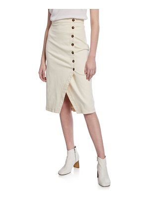 ASTR the Label Eileen Asymmetrical Button-Front Skirt