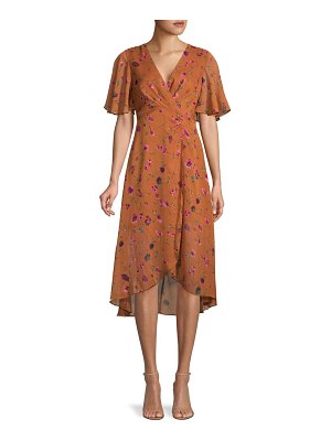 ASTR the Label Floral-Print Faux Wrap Dress