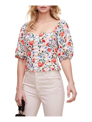 ASTR the Label floral print square neck top