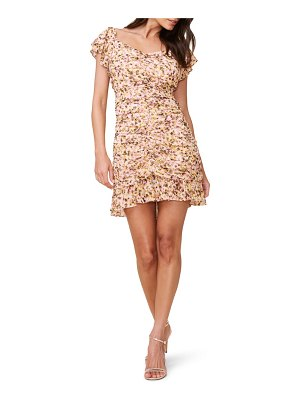 ASTR the Label floral ruched chiffon minidress