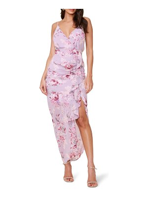 ASTR the Label floral ruffle chiffon dress