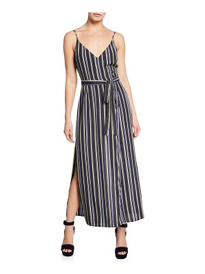 ASTR the Label Frances Striped V-Neck Sleeveless Maxi Dress