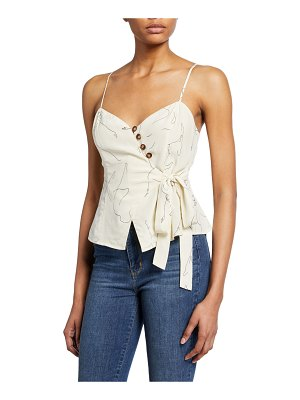 ASTR the Label Judi Button-Front Sleeveless Top