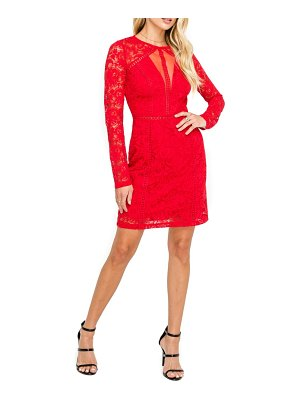 ASTR the Label lace sheath dress
