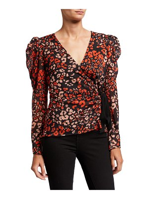 ASTR the Label Lissa Long-Sleeve Leopard-Print Top