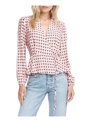 ASTR the Label print wrap top