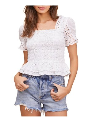 ASTR the Label retreat smocked eyelet top