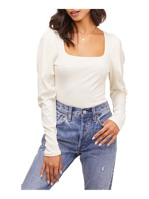 ASTR the Label ribbed puff sleeve bodysuit