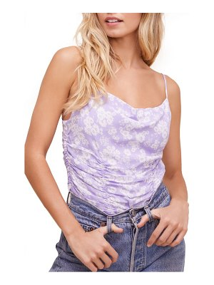 ASTR the Label ruched floral print cami