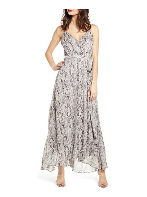ASTR the Label snake print sleeveless maxi dress