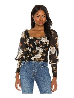 ASTR the Label square neck ruched top