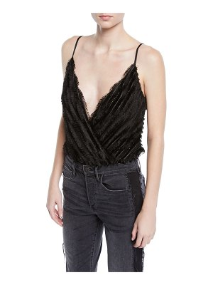 ASTR the Label To The Beat Frayed Sleeveless Bodysuit
