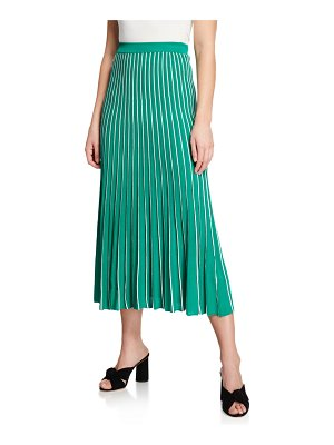 ASTR the Label Yuri Striped Pleated Midi Skirt