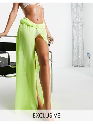 AsYou beach skirt in neon yellow-red