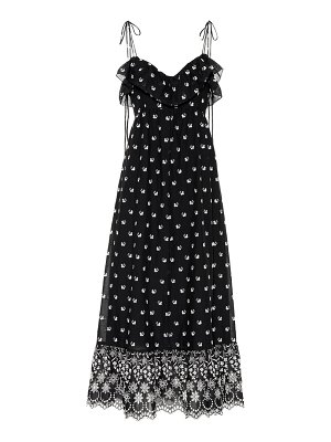 Athena Procopiou Embroidered cotton dress