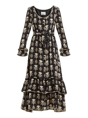 Athena Procopiou floral print silk dress