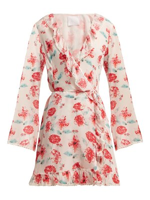 Athena Procopiou Floral-print silk wrap dress