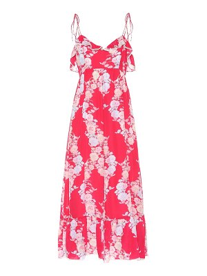 Athena Procopiou Heartbeats silk maxi dress