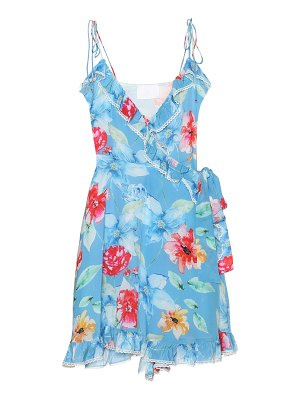 Athena Procopiou In Bloom silk minidress