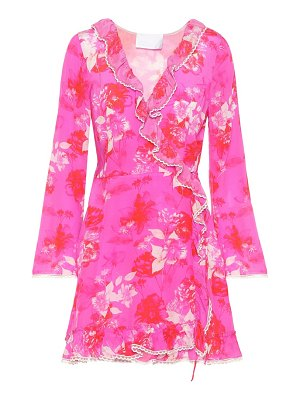 Athena Procopiou Melrose Sunset silk wrap dress