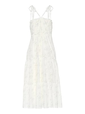 Athena Procopiou Romance In The Wind printed cotton and silk dress