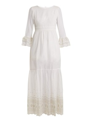 Athena Procopiou sunday morning lace trimmed maxi dress